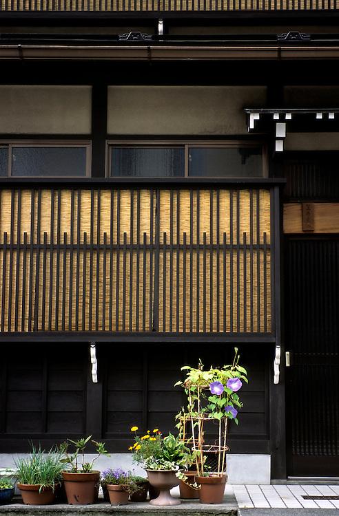 "Japan, Gifu, Takayama. September/17/2004...Known as ""little Kyoto,"" Gifu's Takayama town retains a number of traditional houses and streets."