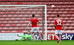 Frank Fielding of Bristol City saves a penalty from Sam Winnall of Barnsley - Mandatory by-line: Robbie Stephenson/JMP - 29/10/2016 - FOOTBALL - Oakwell Stadium - Barnsley, England - Barnsley v Bristol City - Sky Bet Championship