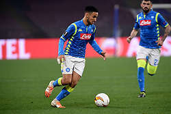 February 21, 2019 - Naples, Naples, Italy - Adam Ounas of SSC Napoli during the UEFA Europa League Round of 32 Second Leg match between SSC Napoli and FC Zurich at Stadio San Paolo Naples Italy on 21 February 2019. (Credit Image: © Franco Romano/NurPhoto via ZUMA Press)