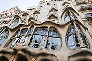 Spain, Barcelona, Casa Mila (La Pedrera) by the architect Antoni Gaudi