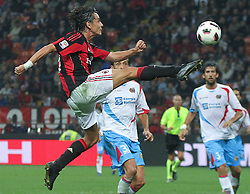 18.09.2010, Giuseppe-Meazza-Stadion, Florenz, ITA, Serie A, AC Mailand vs Catania Calcio, im Bild Il giocatore del Milan FILIPPO INZAGHI. EXPA Pictures © 2010, PhotoCredit: EXPA/ InsideFoto/ Alberto Camici +++++ ATTENTION - FOR AUSTRIA AND SLOVENIA CLIENT ONLY +++++ / SPORTIDA PHOTO AGENCY