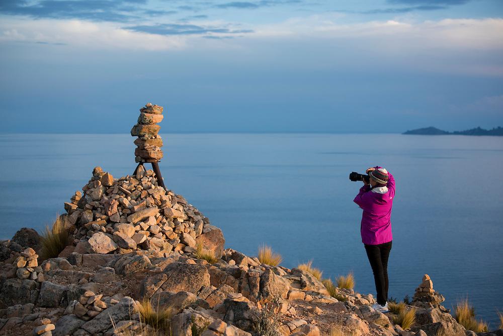 South America, Peru, Lake Titicaca, Suasi Island,chinese photographer