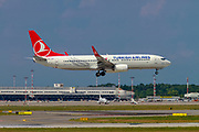 TC-JHY Turkish Airlines, Boeing 737 Next Gen. Photographed at Malpensa airport, Milan, Italy