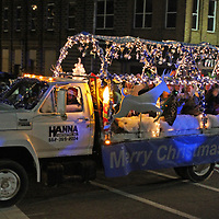 "Hanna Contracting's ""Winter Wonderland"" float makes its way down Aberdeen Main Street during the town's Dec. 4 Christmas parade. The float won third place. The Walker, English and Haney families' float placed first, and First Baptist Church's float placed second."