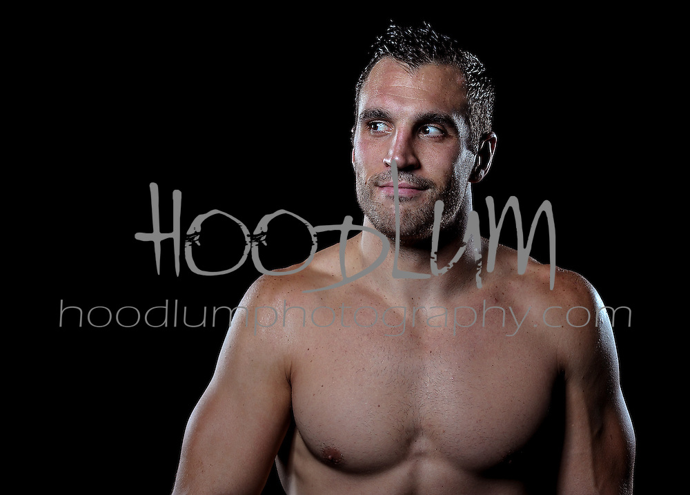 "Portrait of MMA Cage fighter Josh ""Superman"" Cavan.  Taken for Prize Fighting Championship Events."