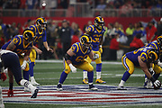 Los Angeles Rams offensive guard Austin Blythe (66) in action during the NFL Super Bowl 53 football game against the New England Patriots on Sunday, Feb. 3, 2019, in Atlanta. The Patriots defeated the Rams 13-3. (©Paul Anthony Spinelli)