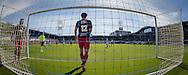 ZWOLLE, PEC Zwolle - SBV Excelsior, voetbal Eredivisie seizoen 2014-2015, 22-03-2015, IJsseldelta Stadion, Excelsior speler Sander Fischer (L) heeft een eigen doelpunt gescoord, 1-0 voor PEC Zwolle, Excelsior keeper Alessandro Damen (2L) en Excelsior speler Jurgen Mattheij (M) balen.