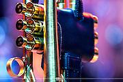 Detail of one of Arturo Sandoval Trumpet<br /> (FIM 16) Festival Internacional de M&uacute;sica Cancun 2016