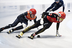 February 8, 2019 - Torino, Italia - Foto LaPresse/Nicolò Campo .8/02/2019 Torino (Italia) .Sport.ISU World Cup Short Track Torino - 500 meter Men Preliminaries.Nella foto: Melle van T Wout, Haidong Jia..Photo LaPresse/Nicolò Campo .February 8, 2019 Turin (Italy) .Sport.ISU World Cup Short Track Turin - 500 meter Men Preliminaries.In the picture: Melle van T Wout, Haidong Jia (Credit Image: © Nicolò Campo/Lapresse via ZUMA Press)