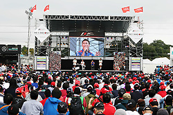 Takuma Sato (JPN) at the fans' stage.<br /> 08.10.2016. Formula 1 World Championship, Rd 17, Japanese Grand Prix, Suzuka, Japan, Qualifying Day.<br /> Copyright: Moy / XPB Images / action press