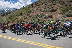May 18, 2018 - Nevada, U.S - Friday, May 18, 2018.The peloton moves along Kingsbury Grade Rd, Nevada, during Stage 2 of the Amgen Tour of California Women's Race empowered with SRAM. The stage starts and finishes in South Lake Tahoe, California, near Heavenly Ski Resort. (Credit Image: © Tracy Barbutes via ZUMA Wire)