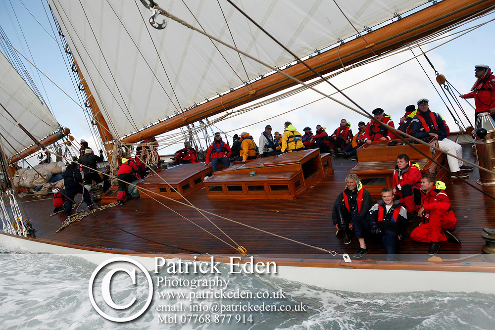 Ben Ainsley, Eleonora, J P Morgan Asset Management Round the Island Race 2012, Eleanora, Cowes, Isle of Wight, UK,