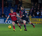 8th May 2018, Global Energy Stadium, Dingwall, Scotland; Scottish Premiership football, Ross County versus Dundee; Paul McGowan of Dundee and Jason Naismith of Ross County