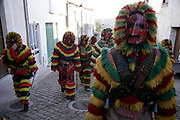 """During the festivities, """"Caretos"""" always walk in noisy groups, spreading terror, excitement and laughter"""