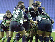 14/12/2003 - Photo  Peter Spurrier.2003/04 Parker Pen Challenge  Cup: London Irish vs Montauban.Exiles forwards, pass the won line out ball out.    [Mandatory Credit, Peter Spurier/ Intersport Images].