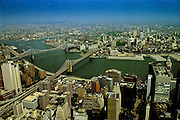 East River from the top of the Twin Towers, World Trade Center, New York (1994)