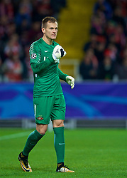 MOSCOW, RUSSIA - Tuesday, September 26, 2017: FC Spartak Moscow's goalkeeper Artem Rebrov during the UEFA Champions League Group E match between Spartak Moscow and Liverpool at the Otkrytie Arena. (Pic by David Rawcliffe/Propaganda)