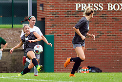 21 August 2019:   during an NCAA Division III women's soccer game between the Aurora College Spartans and the  Illinois Wesleyan Titans in Bloomington IL (photo by Alan Look)