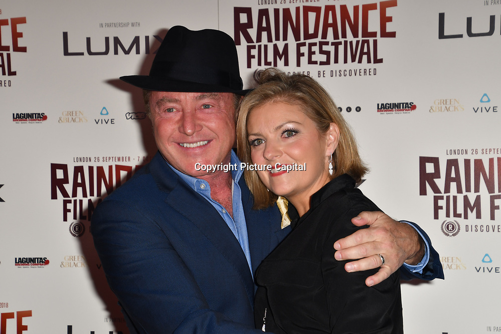 Michael Flatley , Niamh O'Brien attends the Raindance Opening Gala 2018 held at Vue West End, Leicester Square on September 26, 2018 in London, England.