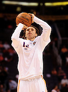 May 25, 2010; Phoenix, AZ, USA; Phoenix Suns guard Steve Nash (13) warms up prior to the first quarter in game four of the western conference finals in the 2010 NBA Playoffs at US Airways Center.  Mandatory Credit: Jennifer Stewart-US PRESSWIRE