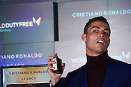 Portuguese Real Madrid Player Cristiano Ronaldo present his new fragrance 'Cristiano Ronaldo Legacy' at World Duty Free Adolfo Suarez Airport on March 3, 2016 in Madrid