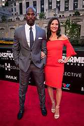 Remi Adeleke and his wife Jessica Adeleke attend the US Premier of 'Transformers: The Last Knight' on the Chicago River in front of the Civic Opera House on Tuesday June 20, 2017 in Chicago, IL. Photo: Christopher Dilts / Sipa USA *** Please Use Credit from Credit Field ***