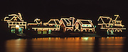 Boathouse Row Historic Site, East Bank  Schuylkill River, Fairmount Water Works, Fairmont Park, Philadelphia, PA