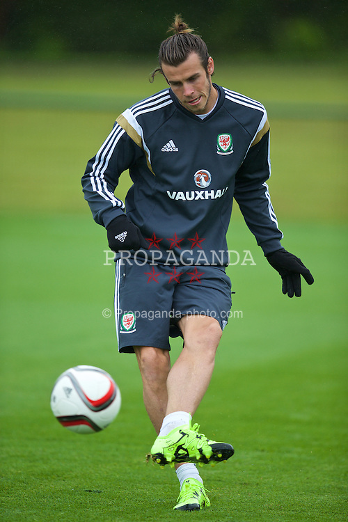 CARDIFF, WALES - Tuesday, June 2, 2015: Wales' Gareth Bale during a training session at the Vale of Glamorgan ahead of the UEFA Euro 2016 Qualifying Round Group B match against Belgium. (Pic by David Rawcliffe/Propaganda)