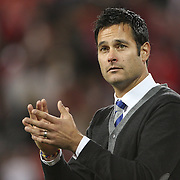 New York Red Bulls coach Mike Petke after his sides shock loss during the New York Red Bulls V Houston Dynamo, Major League Soccer second leg of the Eastern Conference Semifinals match at Red Bull Arena, Harrison, New Jersey. USA. 6th November 2013. Photo Tim Clayton