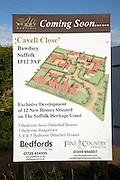 New rural housing development Cavell Close, Bawdsey, Suffolk, England