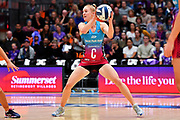 Steel's Shannon Saunders in action.<br /> Stars v Steel, ANZ Premiership, Pulman Arena, Auckland, New Zealand. Sunday 14 April 2019. © Copyright Image: Marc Shannon / www.photosport.nz.
