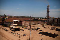 ITUMBIARA, BRAZIL - OCTOBER 16:<br /> Bagasse dust, waste from the sugarcane stalks used to power Cargill's facility, blankets the plant, near the city of Itumbiara, in Goias state, Brazil, on Wednesday, Oct. 16, 2013. Since the US recently passed a number of regulations and standards for cars and dropped tariffs that were in place for decades against Brazilian sugar, Brazilian ethanol is now flowing to the U.S., and the ethanol industry in the country is consolidating and ramping up for a new era.