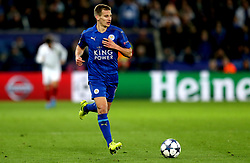 Marc Albrighton of Leicester City - Mandatory by-line: Robbie Stephenson/JMP - 14/03/2017 - FOOTBALL - King Power Stadium - Leicester, England - Leicester City v Sevilla - UEFA Champions League round of 16, second leg