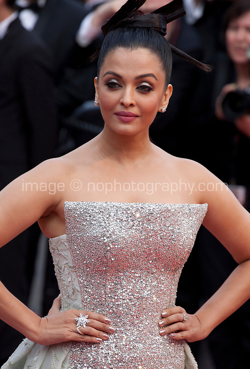 Actress Aishwarya Rai at the Le Grand Bain (Sink Or Swim) gala screening at the 71st Cannes Film Festival, Sunday 13th May 2018, Cannes, France. Photo credit: Doreen Kennedy