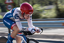 Stephanie Pohl (Cervélo Bigla) speeds along the highway - Emakumeen Bira 2016 Prologue - A 3.3km time trial in Durango, Spain on 13th April 2016.