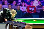 Mark Selby make a century break with this brown ball during the 1st frame of the Quarter Final between Ronnie O'Sullivan vs Mark Selby during the 19.com Home Nations Scottish Open at the Emirates Arena, Glasgow, Scotland on 13 December 2019.