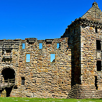 St Andrews Castle Entrance in St Andrews, Scotland<br />