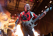 Five Finger Death Punch performs on July 27, 2018 at FivePoint Amphitheater in Irvine, California (Photo: Charlie Steffens/Gnarlyfotos) Five Finger Death Punch<br /> July 27, 2018<br /> Five Point Amphitheater<br /> Irvine, California
