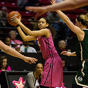25 February 2017: The San Diego State Aztec's women's basketball team hosts Colorado State in their annual Play4Kay day. www.sdsuaztecphotos.com