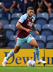 """Burnley's Nahki Wells during a pre season friendly match at Deepdale, Preston. PRESS ASSOCIATION Photo. Picture date: Monday July 23, 2018. Photo credit should read: Antony Devlin/PA Wire. EDITORIAL USE ONLY No use with unauthorised audio, video, data, fixture lists, club/league logos or """"live"""" services. Online in-match use limited to 75 images, no video emulation. No use in betting, games or single club/league/player publications."""