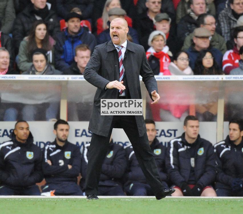 Sean Dyche Manager, Burnley FC, Sky Bet Championship,  City Ground Nottingham, Nottingham Forest v Burnley Game Saturday 23/11/2013