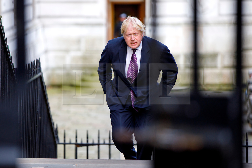 © Licensed to London News Pictures. 29/03/2017. London, UK. Foreign Secretary BORIS JOHNSON attends a cabinet meeting in Downing Street, London on Wednesday, 29 March 2017 as Prime Minister Theresa May triggers article 50 and starts Britain's departure from the European Union. Photo credit: Tolga Akmen/LNP