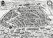 The siege of Haarlem was an episode of the Eighty Years' War. From December 11, 1572 to July 13, 1573 an army of Philip II of Spain laid bloody siege to the city of Haarlem in the Netherlands, whose loyalties had begun wavering during the previous summer. After the naval battle of Haarlemmermeer and the defeat of a land relief force, the starving city surrendered and the garrison was massacred. The resistance nonetheless was taken as an heroic example by the Orangists at the sieges of Alkmaar and Leiden.