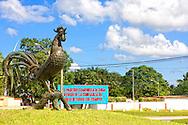 Rooster monument in Moron, Ciego de Avila, Cuba.