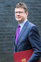 Downing Street, London, February 21st 2017. Business Secretary Greg Clark attends the weekly cabinet meeting at 10 Downing Street in London.