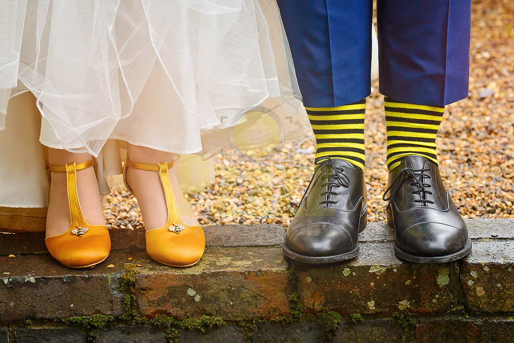 Bumble Bee Wedding Shoes and Socks