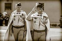 Colonel Fran&ccedil;ois-Xavier Heon commanding officer 1st regiment of Spahis and Lieutenant-Colonel Jacques Demau<br /> The 1st Spahis Regiment organized the commemoration of the Battle of Uskub on September 29, in memory of the commitment of their elders in Macedonia in 1918.<br /> The Uskub maneuver, today Skopje, is an attack by the Allied cavalry between 24 and 30 September 1918 in Macedonia, to cut the Bulgarian army in two, later leading Bulgaria to sign the armistice on September 29th.<br /> This commemoration took place in the presence of Philippe Loiacono, recently named General Military Governor of Lyon<br /> <br /> Le 1er&nbsp;r&eacute;giment de Spahis a organis&eacute; les comm&eacute;morations de la bataille d&rsquo;Uskub le 29 septembre, en souvenir de l&rsquo;engagement de leurs anciens en Mac&eacute;doine en 1918.<br /> En effet, la man&oelig;uvre d&rsquo;Uskub, aujourd&rsquo;hui Skopje est une attaque men&eacute;e par la cavalerie alli&eacute;e entre le 24 et le 30 septembre 1918 en Mac&eacute;doine, afin de couper en deux l&rsquo;arm&eacute;e bulgare, amenant par la suite la Bulgarie &agrave; signer l&rsquo;armistice le 29 septembre.<br /> Cette comm&eacute;moration a eu lieu en pr&eacute;sence de Philippe Loiacono, nouvellement nomm&eacute; g&eacute;n&eacute;ral Gouverneur militaire de Lyon<br /> <br /> En tant qu&rsquo;Officier G&eacute;n&eacute;ral de Zone de D&eacute;fense et de S&eacute;curit&eacute; (OGZDS), le g&eacute;n&eacute;ral de corps d&rsquo;arm&eacute;e Philippe Loiacono, Gouverneur militaire de Lyon, est charg&eacute; de la sauvegarde et de la participation des forces arm&eacute;es &agrave; la d&eacute;fense du territoire national, sous l&rsquo;autorit&eacute; du chef d&rsquo;&Eacute;tat-major des arm&eacute;es (CEMA).Philippe Loiacono, g&eacute;n&eacute;ral Gouverneur militaire de Lyon