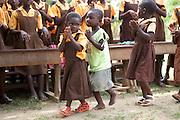 School students put on a play at Mbaem community school, Ghana.