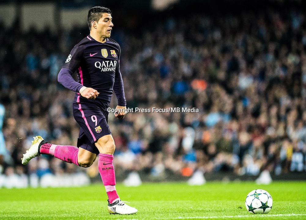2016.11.01 Manchester<br /> Pilka nozna Liga Mistrzow sezon 2016/2017<br /> Manchester City - FC Barcelona<br /> N/z Luis Suarez<br /> Foto Sebastian Frej / PressFocus<br /> <br /> 2016.11.01 Manchester<br /> Football Champions League season 2016/2017<br /> Manchester City - FC Barcelona<br /> Luis Suarez<br /> Credit: Sebastian Frej / PressFocus