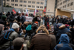 February 6, 2018 - Lyon, France - Protesters take part in a demonstration against a French government's proposed reform of university applications and a project to reform the French baccalaureate high school exit exam on February 6, 2018, in Lyon, central-eastern France. (Credit Image: © Nicolas Liponne/NurPhoto via ZUMA Press)
